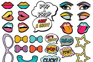 25 Printable Pop Art Photo Props