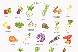 March Fruit and Vegetable