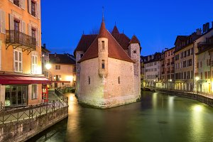 Night Annecy, France