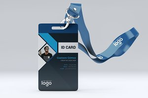 Creative Black ID Card Design