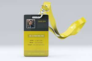Black and Yellow ID Card Design