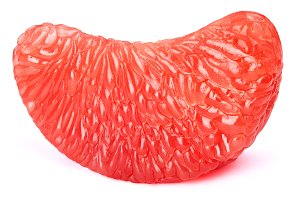 Grapefruit fruit pulp slice isolated