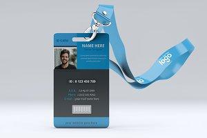 Blue and Black ID Card Design