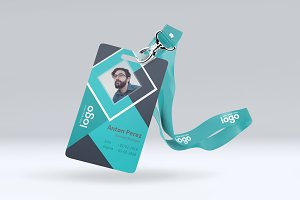 abstract id card design stationery templates creative market
