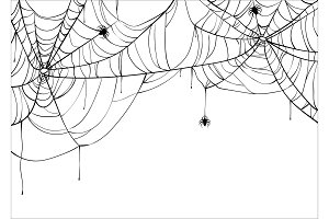 Halloween spiderweb vector