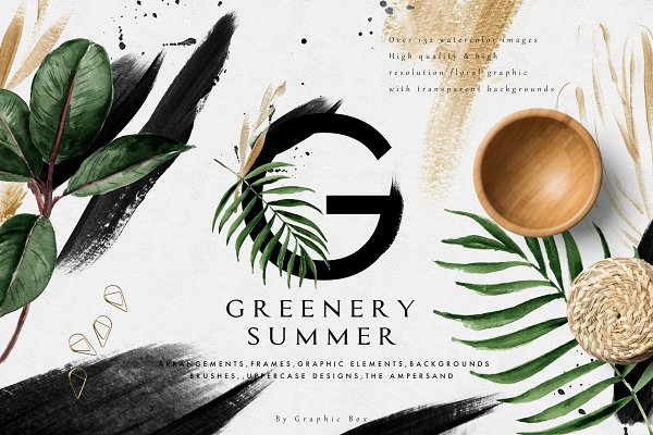 Graphics: Graphic Box - Greenery Summer Design Set