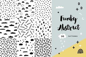 30 Trendy Abstract Seamless Patterns