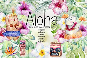 Aloha. Tropical collection.