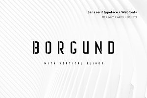 Borgund Blinds - Typeface + Webfonts