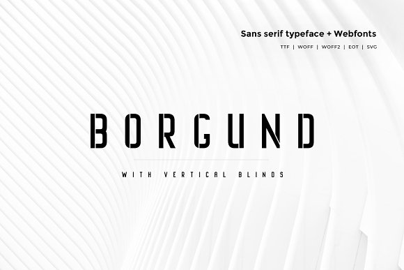 Borgund Blinds - Typeface + Webfonts