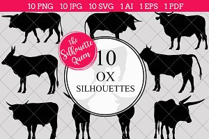 Ox Silhouette Vector Graphics