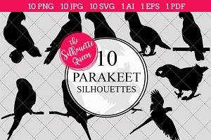 Parakeet Silhouette Vector Graphics