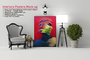 Interiors Posters Mock-up