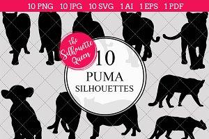 Puma Silhouette Vector Graphics