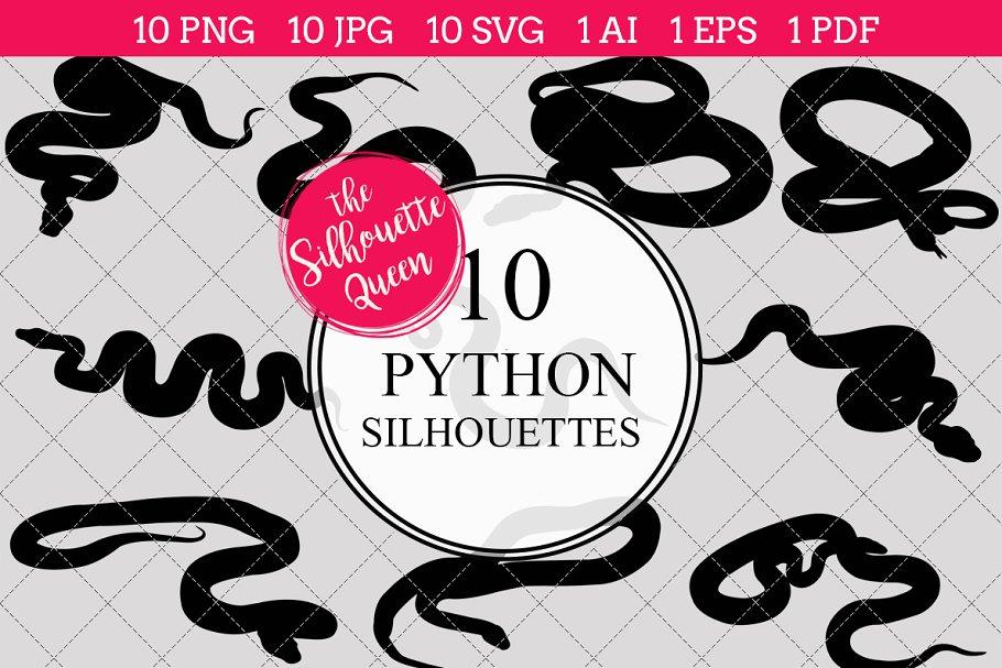 Python Silhouette Vector Graphics