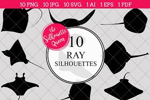 Ray Silhouette Vector Graphics