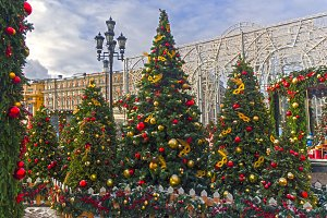 Christmas trees in Moscow