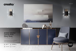 Artistic Inter. Canvas Print Mockup
