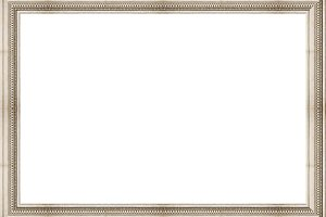 White Landscape Blank Frame with Arc