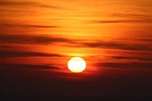 Red Sunset Sun Globe