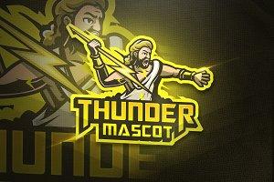 Thunder Mascot-Esport & Mascot logo