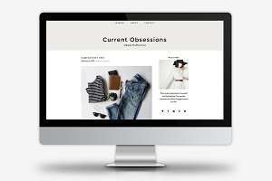 Current Obsessions / WordPress Theme