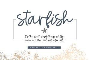 Starfish - A Handwritten Script Font
