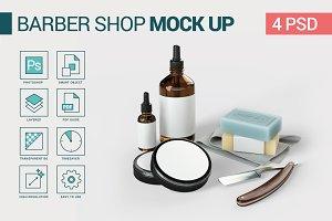 Barber Shop Vintage Mockup