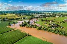 Flooding in Ephrata, PA - DRONE