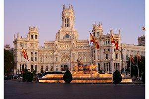night in Madrid, Spain