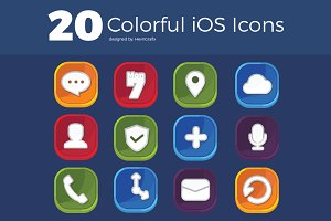 20 Colorful iOS Icon Set