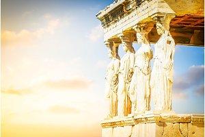 Erechtheion temple in Acropolis of