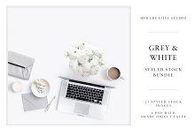 White & Grey Styled Stock Bundle