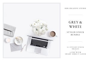 White & Grey Styled Stock Bundle