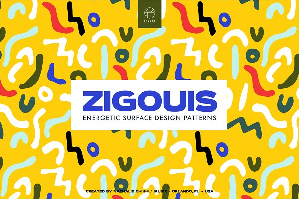 Patterns: ikubix - Zigouis Surface Pattern Design