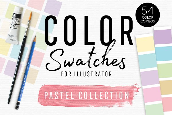 InDesign Color Palettes: Bold Leap Creative - Color Swatches - Pastel Collection