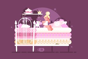 Little princess on pea