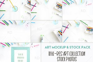 Styled Stock Photography: Art Pack
