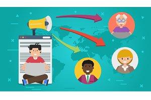 Banner - concept of blogging