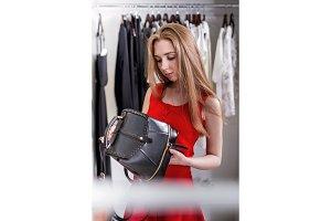 Caucasian young female shopper