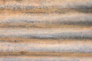 Rust texture zinc wall abstract
