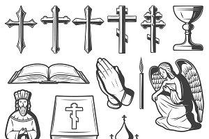 Vintage Religious Elements Set