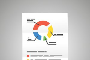 Bright colorful diagram a4 document