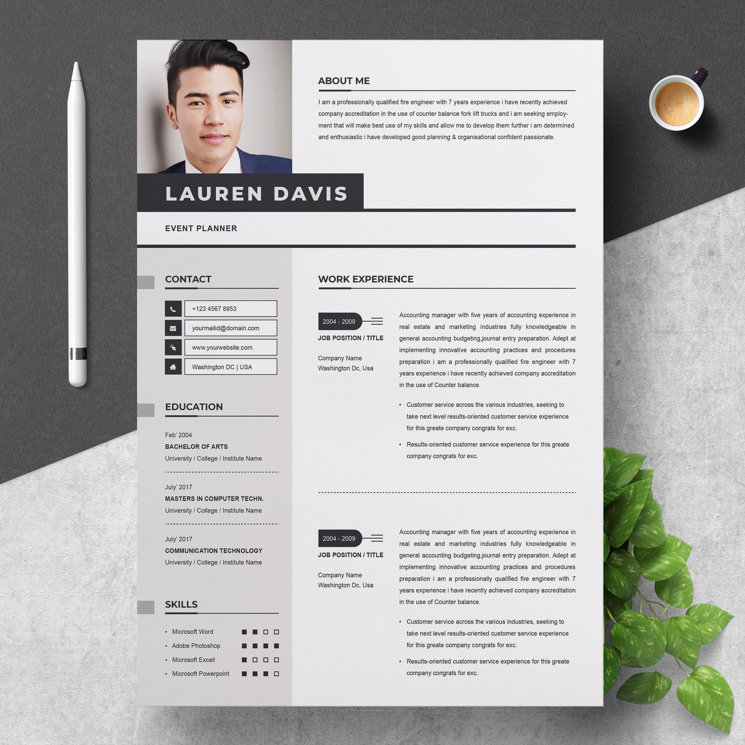Professional Resume Template Creative Illustrator Templates