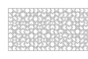 200 white puzzles pieces template