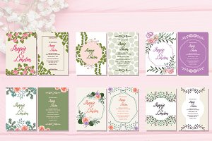 6 Wedding Invitation Greeting Card