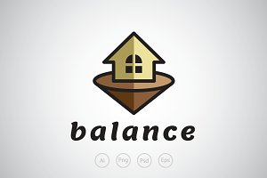 Balance House Logo Template