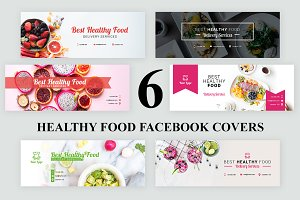 6 Healthy Food Facebook Covers