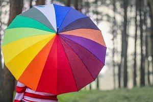 Beautiful women with umbrella