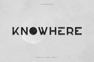 Knowhere - Display font family -50%